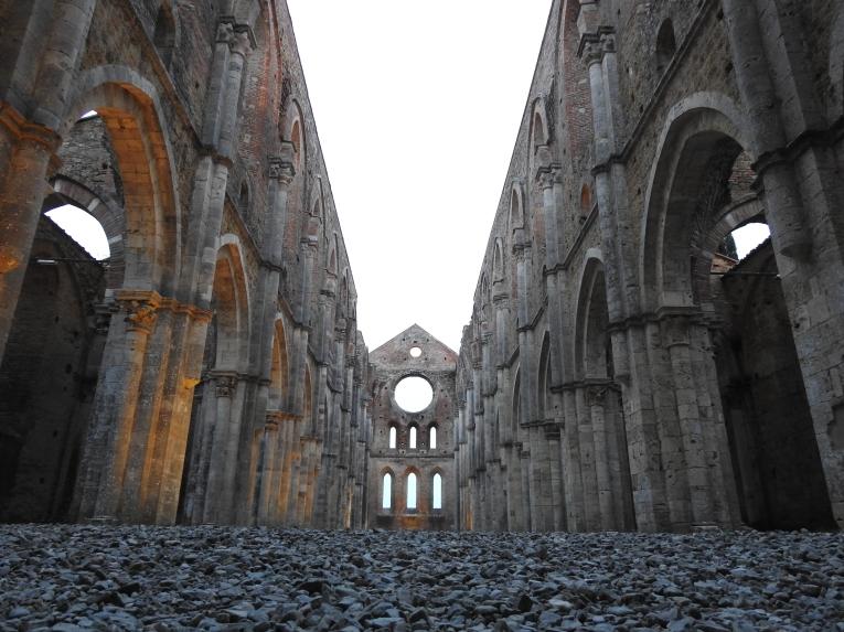 San Galgano abbey Siena southern Tuscany